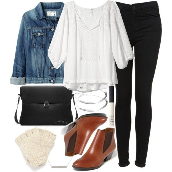 """""""Allison Inspired Junior High Outfit with Jeans"""" by veterization on Polyvore"""