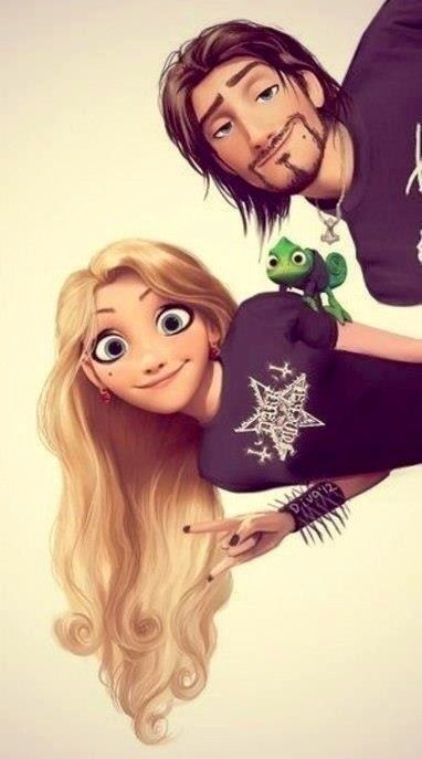 "I don't know who's idea it was to turn Disney characters ""punk"" but I think it's kind of super cute. :S"