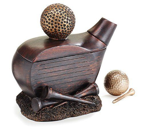 Decorative Golf Club Shape Jewelry/Trinket Box Accented with Golf Ball and Golf Tees ** To view further for this item, visit the image link.