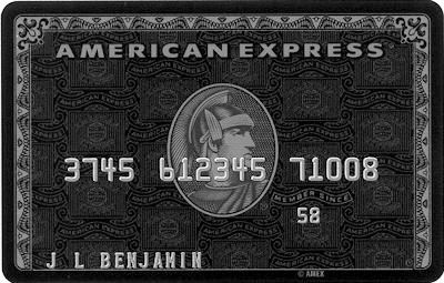 American Express Black Card -  Purchasing power to change the world, not flaunt your wealth!