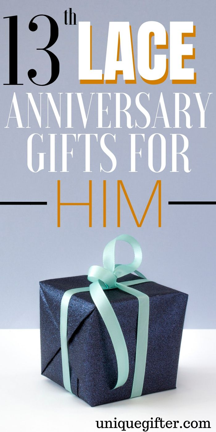 20 13th Lace Anniversary Gifts For Him With Images Anniversary