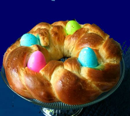 One Perfect Bite: Braided Easter Egg Bread