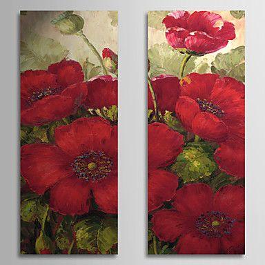 【今だけ☆送料無料】 アートパネル  静物画2枚で1セット 真っ赤 赤い お花 植物【納期】お取り寄せ2~3週間前後で発送予定