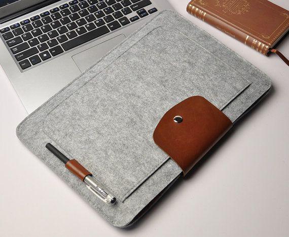 Felt macbook pro sleeve macbook air case 13inch macbook by URPICK, $26.99