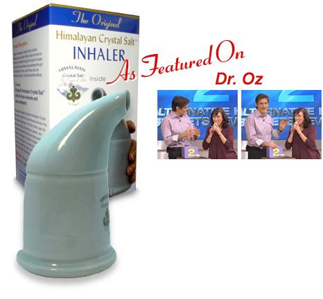 Himalayan Crystal Salt Inhaler -  Frequent inhaling of the microscopic salt crystals through the salt pipe, we clean, relax, & revitalize the entire respiratory system. Inhalation of the Original Himalayan Crystal Salt vapors will deliver amazing, natural respiratory relief as a natural treatment for asthma, nasal catarrh, sinusitis, breathlessness, bronchitis, pharyngitis, tonsillitis, night coughing, rhinitis, irritation & coughing caused by pollution and smoking, hay fever & other…