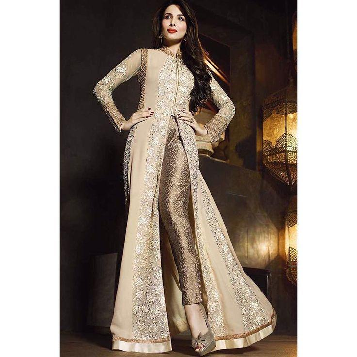 PRODUCT : Malaika Arora Khan beige georgette designer suit. PC: 0491 PAYMENT - COD/Bank Transfer  For PRICE & BOOK YOUR ORDE Do WHATSAPP +91-99-09-09-1413  Free Home Delivery  #mrandmrsbrand #traditional #indianwear #ethnic #stylisht #rampstyle #edd #ramjan #festival #designerfashion #luxury #fashionstylist #dubaishopping #ankellength #design #manishmalhotra #lamefashion #ramjaneid2016 #eid2016 #onlinedress #sonalchauhan #pakistanidress #malaikaarorakhan #eidstyle#