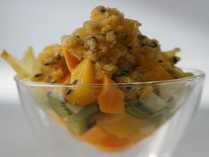 Curtis Stone - Exotic Fruit Salad with Passion Fruit Granita