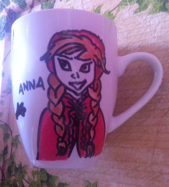 a beautiful mug with Elsa, Olaf and Anna from Frozen..it is sent in a beautiful handpainted gift box with the characters from Frozen. Ideal for