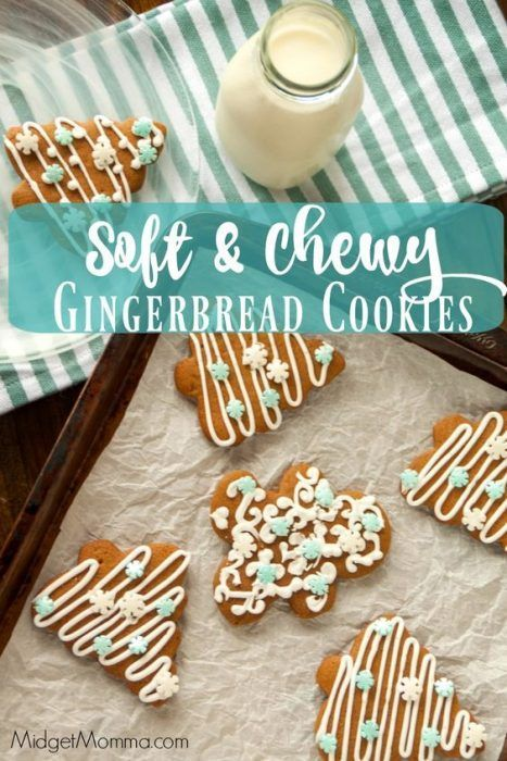 Soft And Chewy Gingerbread Cookies Midgetmomma Cookies