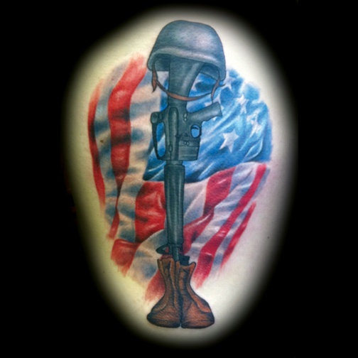 Fallen soldier tattoo by matt skin tattoos by matt for Fallen soldier tattoo