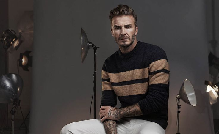 Graphical details in knitwear. Modern Essentials selected by David Beckham. H&M.