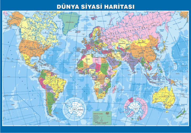Okullarda tarih ve coğrafya dersleri için hazırlanmış, dünya ve Türkiye haritaları