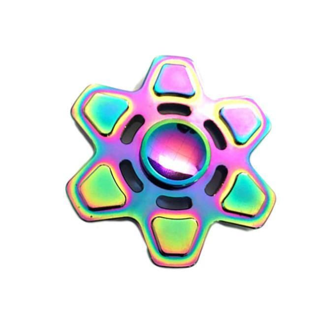 EDC Fidget Spinner Rainbow Color 3 Sides Spin Stress Relive Toys Spinner