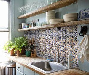 Spaanse/Marokkaanse tegels (keuken, badkamer, toilet)