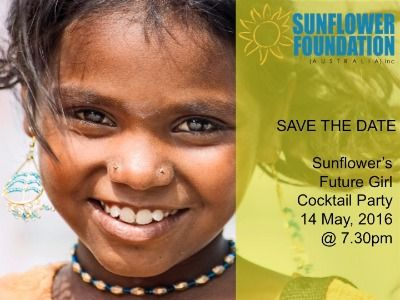 Sunflower Foundations Future Girl Cocktail Party - 14 May, 2016 - Albert Park, VIC   CharityDOs.com.au