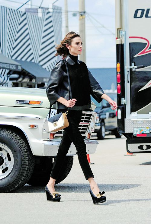 Alexachung:Alexa Chung on set of a photoshoot in Miami, March...