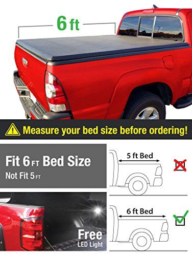 Premium Tri-Fold Truck Bed Tonneau Cover 2005-2018 Nissan Frontier; 2009-2014 Suzuki Equator | Fleetside 6' Bed | For models with or without the Utili-track System. For product info go to:  https://www.caraccessoriesonlinemarket.com/premium-tri-fold-truck-bed-tonneau-cover-2005-2018-nissan-frontier-2009-2014-suzuki-equator-fleetside-6-bed-for-models-with-or-without-the-utili-track-system/