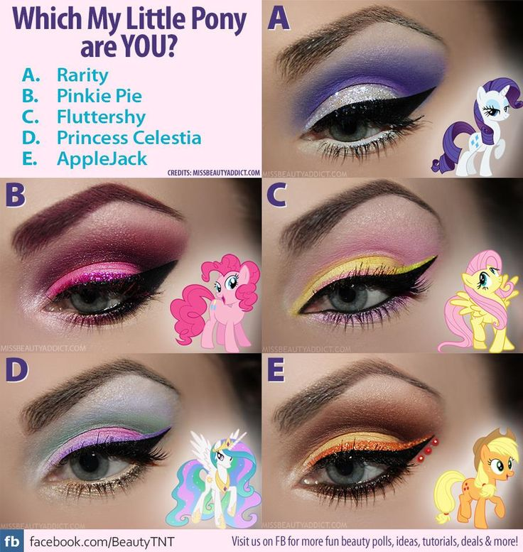 5 Wearable My Little Pony Eyeshadow Looks based on Friendship is Magic!  http://www.beautytipsntricks.com/blog/5-wearable-little-pony-inspired-makeup-looks/  #MLP #Friendshipismagic #MLPmakeup