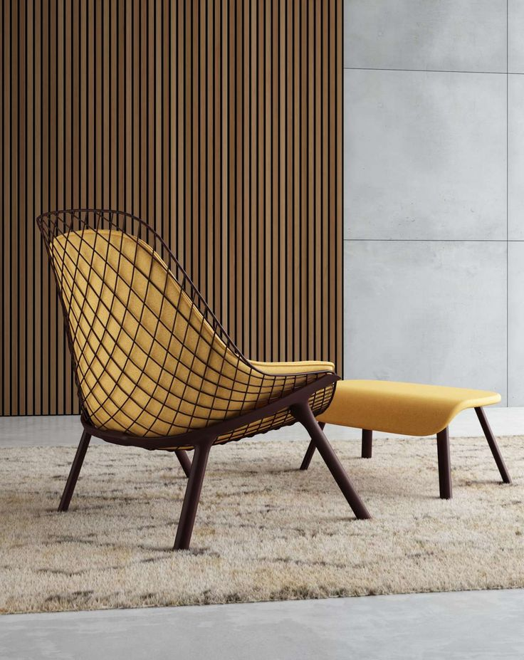 Gran kobi armchair with pouf by Patrick Norguet