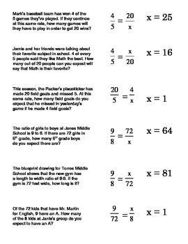 Solving Proportions - Bad Teacher! ⋆ Algebra 1 Coach