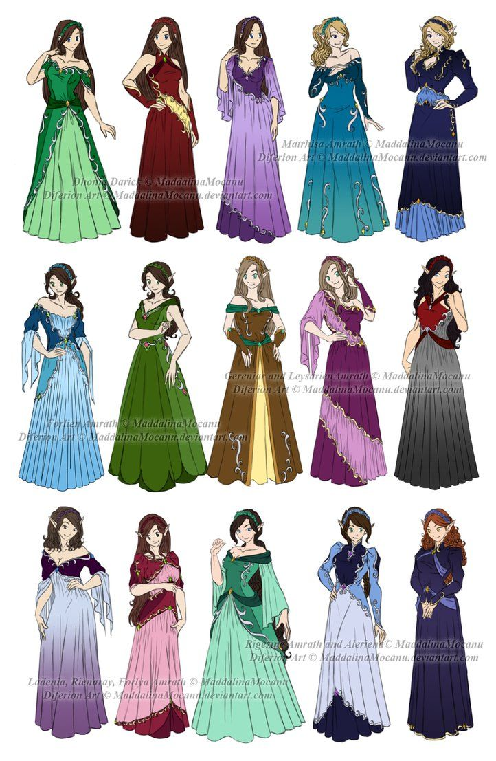 dress n clothes designs p5 12 diferion wedding by maddalinamocanu on deviantart - Clothing Design Ideas