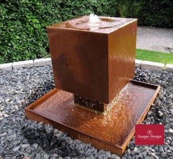 Cortenstahl Brunnen Fantasia 65