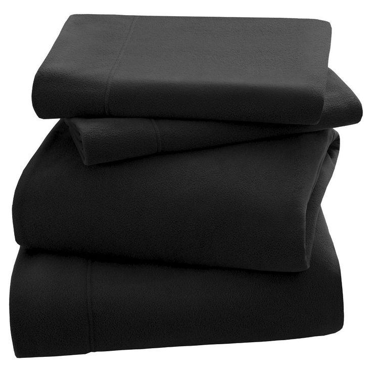 3M Scotchgard Micro Fleece Sheet Set (King) Black
