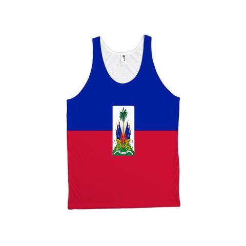 Haiti Flag TankTop - Unisex