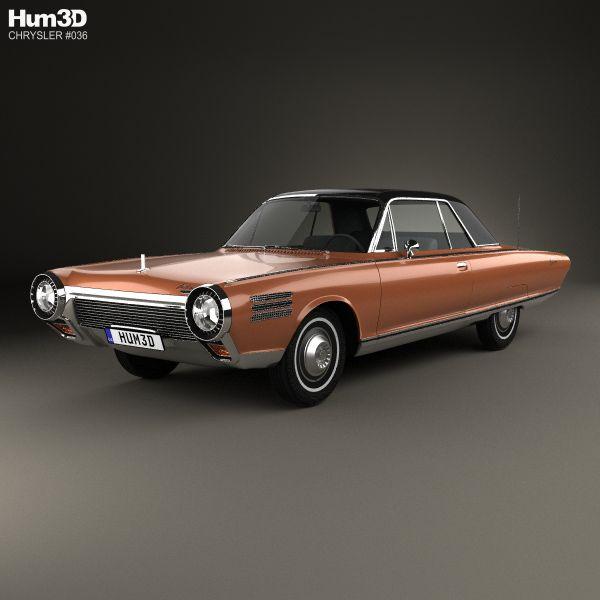 Chrysler Turbine 1963 3d Model From Hum3d.com.