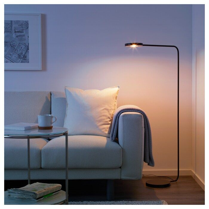 Ypperlig Led Floor Lamp Dark Gray Ikea In 2020 Led Floor Lamp Floor Lamp Floor Lamp Bedroom