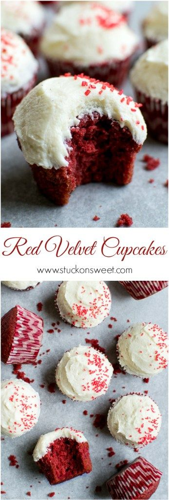 Red Velvet Cupcakes. The classiest cupcake recipe out there! I love making these for special occasions - everyone loves them! | www.stuckonsweet.com