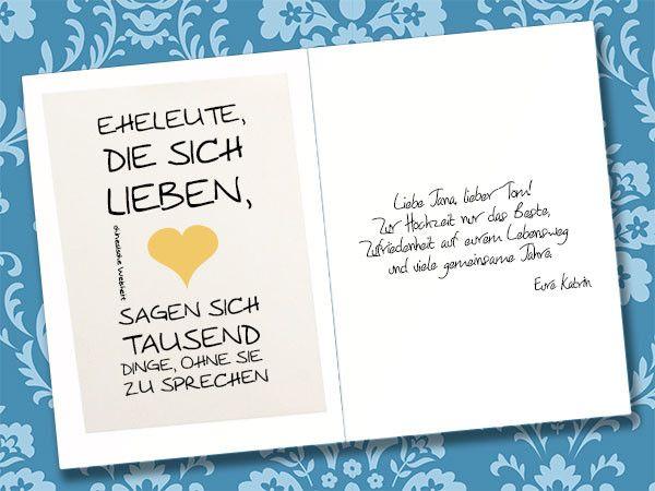 Die Besten Karte Spruch Hochzeit Beste Wohnkultur Bastelideen Coloring Und Frisur Inspiration Karte Hochzeit Spruche Hochzeit Hochzeitskarten