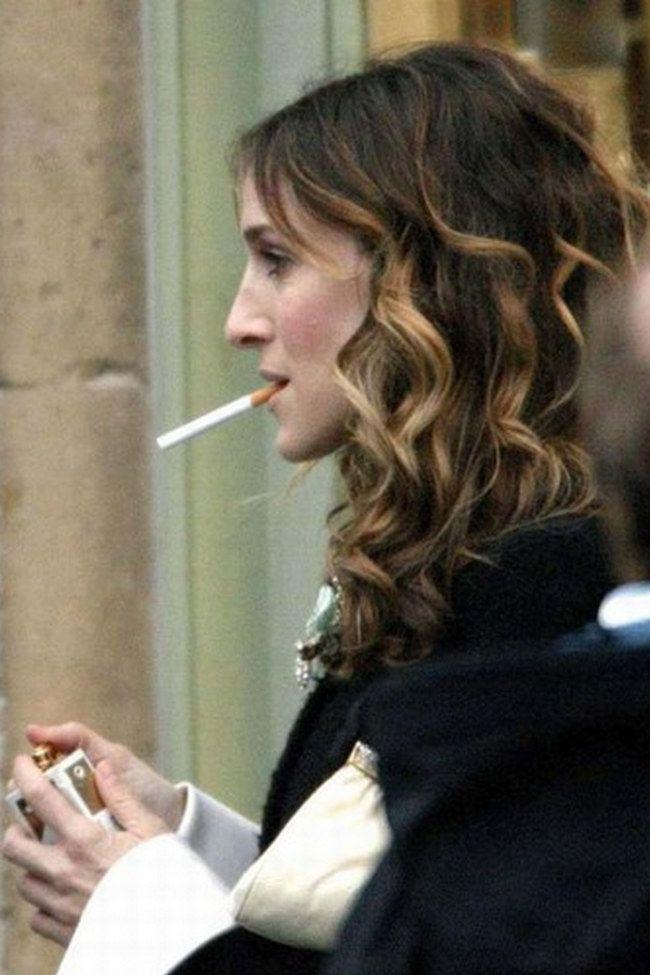 celebs smoking photos | Celebrity Smokers: Sarah Jessica Parker