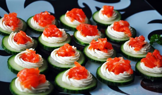 43 best images about canapes on pinterest crescent dogs for Cream cheese canape