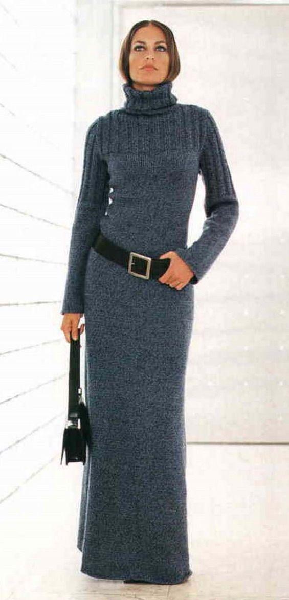 длинное серое вязаное платье - Поиск в Google
