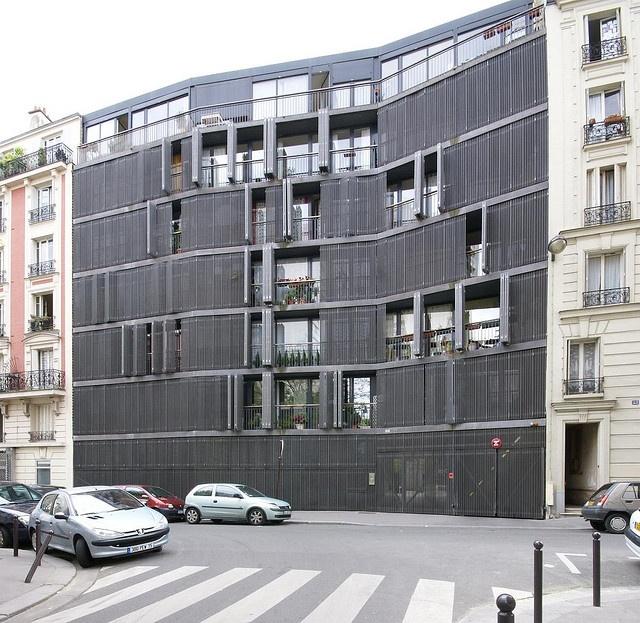 Herzog & de Meuron , Rue des Suisses housing, Paris