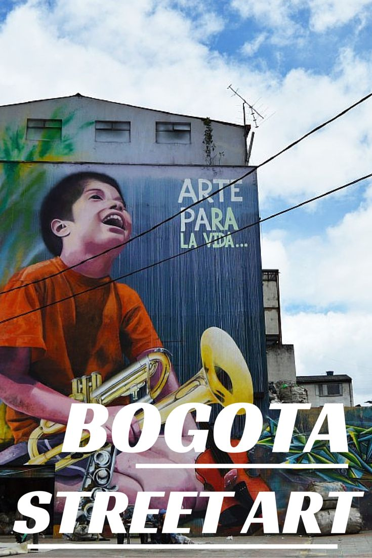 Stunning art in the streets of Colombia's capital city Bogota! www.justapack.com