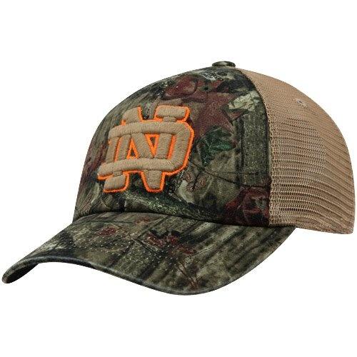 Notre Dame Irish Hat : Top Of The World Notre Dame Fighting Irish Bounty Snapback Hat – Mossy Oak Camo