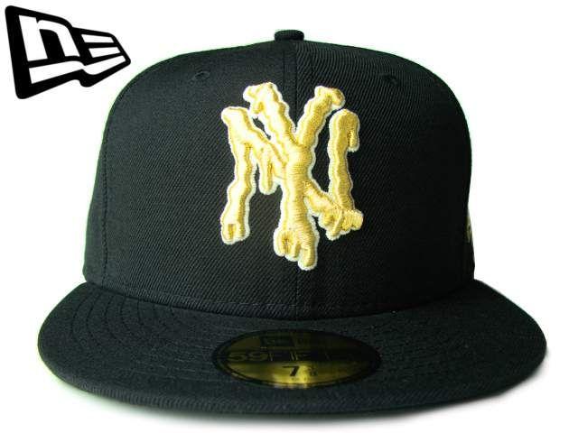 """【ニューエラ】【NEW ERA】59FIFTY NEW YORK YANKEES """"GLOW"""" NY ブラック/ゴールド【グロー】【イチロー】【ヤンキース】【MLB】【メジャーリーグ】【ニューヨーク】【黒】【金】【BLACK】【GOLD】【newera】【キャップ】【帽子】【楽天市場】"""