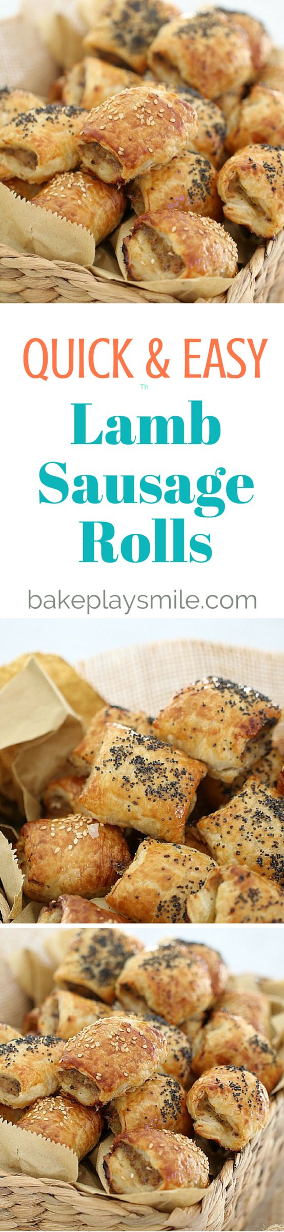 You can't go past these quick & easy lamb sausage rolls for a yummy snack or delicious lunch! Plan ahead by making a double batch and popping them into the freezer. #lamb #feta #sausagerolls #conventional #freezer #thermomix #easy #kids #snacks