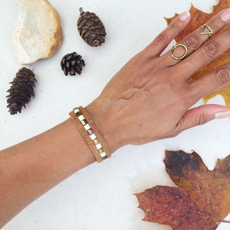 Beaded leather bracelet for women, miyuki bead embellished leather cuff bracelet, boho style and Sami inspired. By Keshinomi on Etsy https://www.etsy.com/uk/listing/475990978/beaded-leather-bracelet-for-women-miyuki