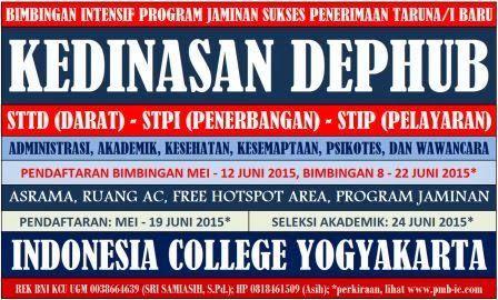 SEKOLAH TINGGI TRANSPORTASI DARAT: bimbingan kedinasan dephub (STTD, STPI, STIP) prog...