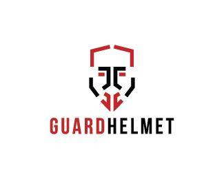 Guard Helmet Logo design - Logo design of a shield shaped like a armor helmet.  Price $250.00