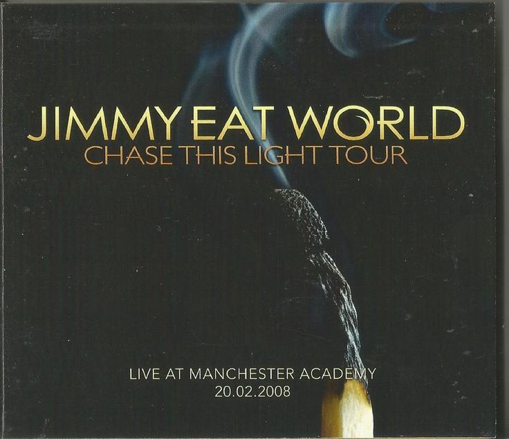 JIMMY EAT WORLD - Live At Manchester Academy Chase The Light Tour CD X2