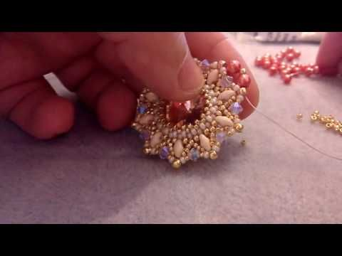 "Modulo ""Queen Elisabeth"" - rivoli 16mm, superduo, bicono 4mm, perle 4mm , rocaille toho e miyuki - YouTube"