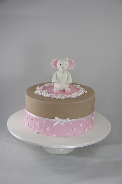 Cloe Christening Cake by Designer Cakes By Effie, via Flickr