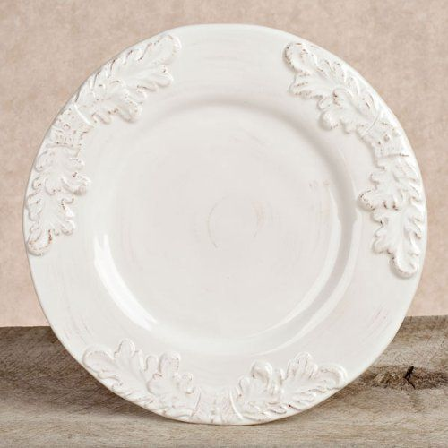 Gg Collection Grazia White Dinner Plates (4) by GG Collection. $91.99. 11 Grazia White Ceramic Dinner Plate set of 4