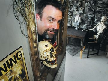 Getting spooky in Barrie - Chris Arnott is setting up his garage on Dunnett Drive to fright and delight children while raising money for the Royal Victoria Regional Health Centre.