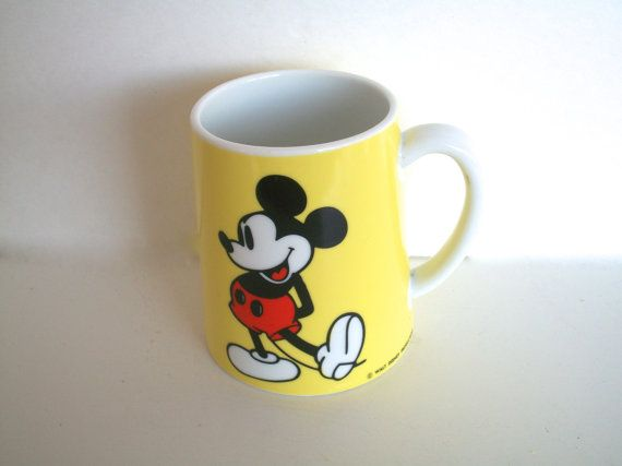 Vintage Musical Mickey Mouse Coffee Mug 1970s Schmid Bros Mickey Mouse Club Theme Song