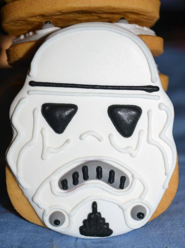 Star Wars Cookies Storm Trooper Character Themed